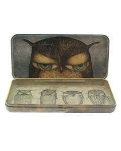 288EC05 - Eclectic - Pencil Tin - Grumpy Owl - Inside - WEB