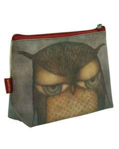 293EC04 - Small Coated Accessory Case - Grumpy Owl - Angle - web