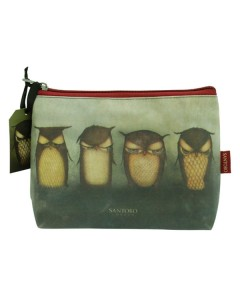 293EC04 - Small Coated Accessory Case - Grumpy Owl - Back - web