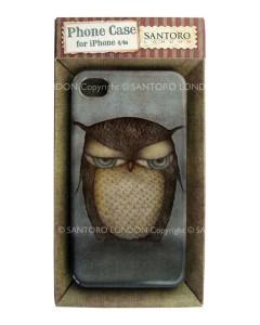 336EC06 - iPhone 4 4S Case - Grumpy Owl - Packaged WM