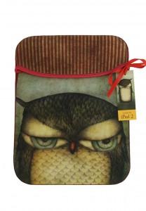 295EC09 - iPad Sleeve - Grumpy Owl - Front