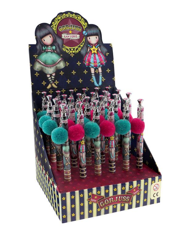Moon Buttons SANTORO Gorjuss Circus Pom Pom Pen